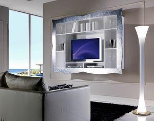 Allegra Living pensile con cornice, Pensile porta tv per salotto
