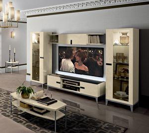 Ambra composizione tv, Arredo tv per salotto