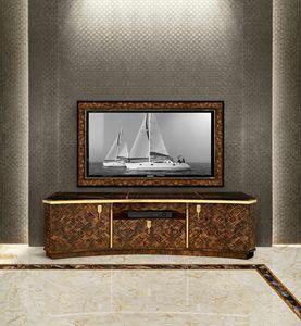 ART. 3292, Mobile porta tv in radica di noce