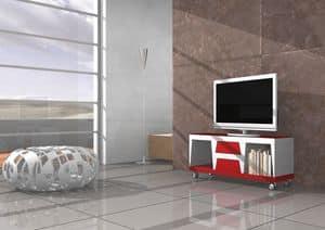 Chara, Mobile per televisore con ruote e cassetti