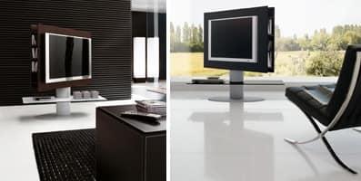CORTES, Mobile porta tv per salotto, con piano portaoggetti