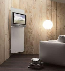k102 nascondinoTV, Porta TV moderno con sistema portabiti e portaoggetti
