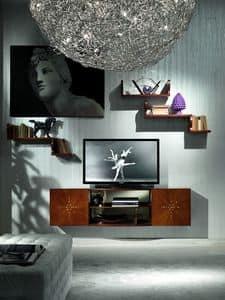 LB17 Nube libreria, Porta televisore classico di lusso, per Camere d'albergo