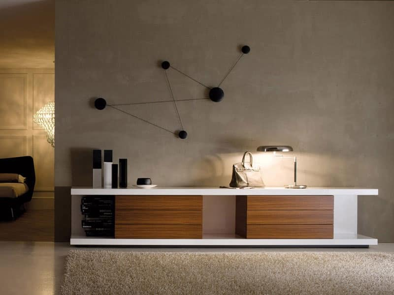 Porta televisore in laccato per soggiorni moderni  IDFdesign