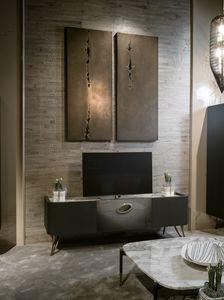 PANGEA porta TV GEA Collection, Porta tv con pregiato piano marmo