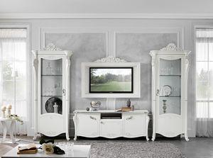 Viola composizione TV, Composizione living stile neoclassico