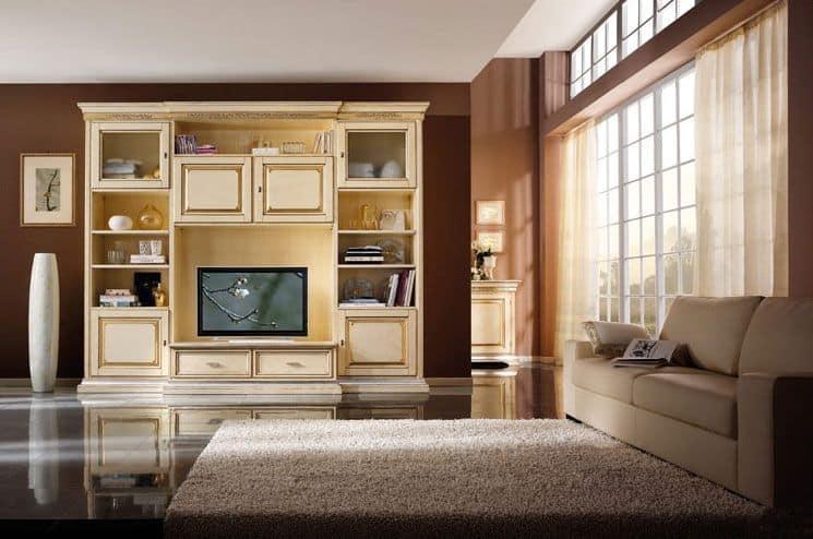 Parete soggiorno in stile classico  IDFdesign