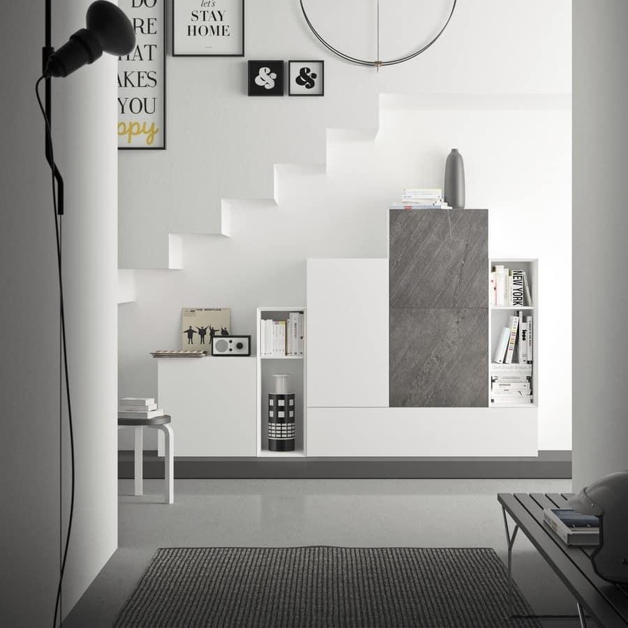 Spazio S308, Parete attrezzata per soggiorno, di alta qualità