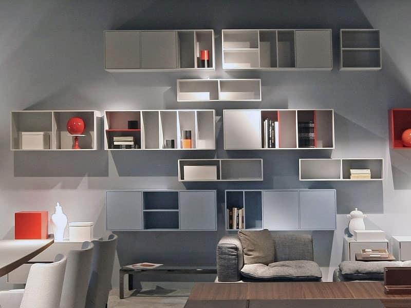 ... , Mobile componibile da soggiorno, composizione personalizzabile