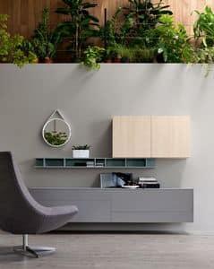 Citylife 05, Sistema di arredo per salotti moderni, personalizzabile