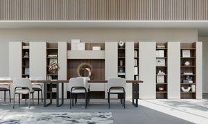 CODE comp.06, Libreria moderna, design a barre verticali, per salotto