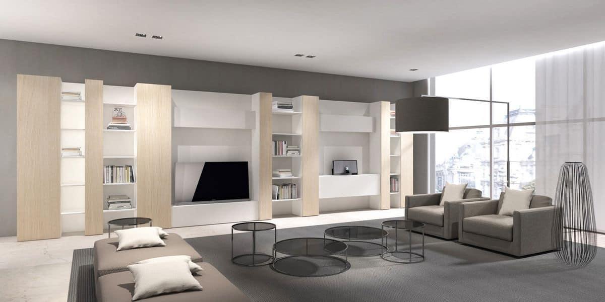 ... linea di: libreria e contenitori per salotto, mobile soggiorno moderno