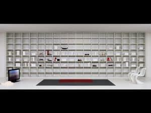 Giorno Biblioteca 04, Arredo modulare per salotto, moduli di varie forme