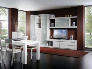 Giorno Parete 09, Sistema modulare di mobili per soggiorno, di vera qualit�