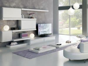 Giorno Sistemi 12, Sistema di mobili componibili, con diverse finiture
