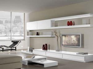 Giorno Sistemi 16, Sistema componibile per salotto, con stile moderno