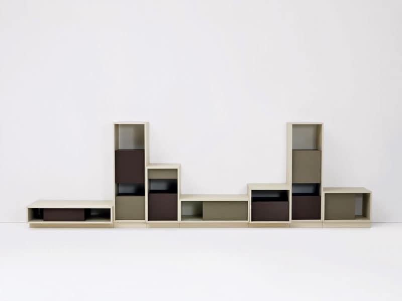 Mobili Sistemi modulari salotto Design Moderno  IDFdesign