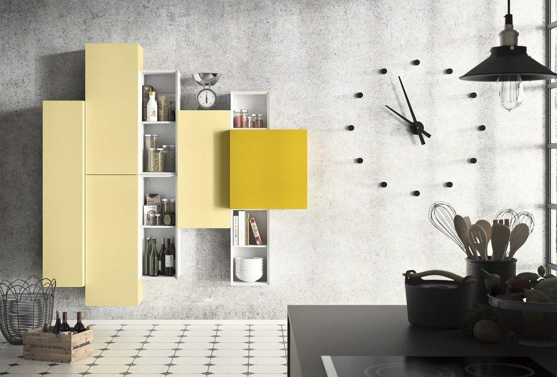 People P205, Mobile design componibile per soggiorno moderno