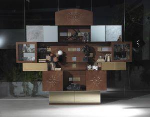 VL29 Klimt mobile, Mobile da soggiorno con specchi, a prezzo outlet
