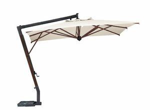 Par� 3040, Ombrellone con palo laterale in legno