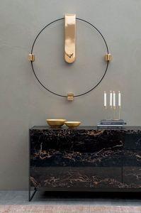 MEMO, Orologio in metallo laccato e ceramica