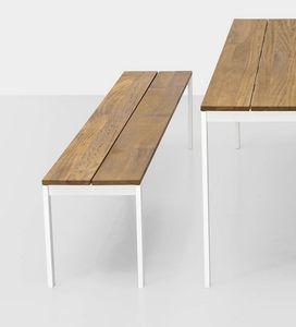 Be-Easy slatted bench, Panca da esterno, con doghe in teak
