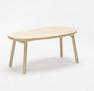 Pebble bench, Panca in legno