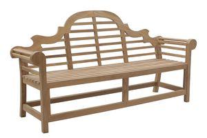 Vittoria 0207, Elegante panca in legno per giardino