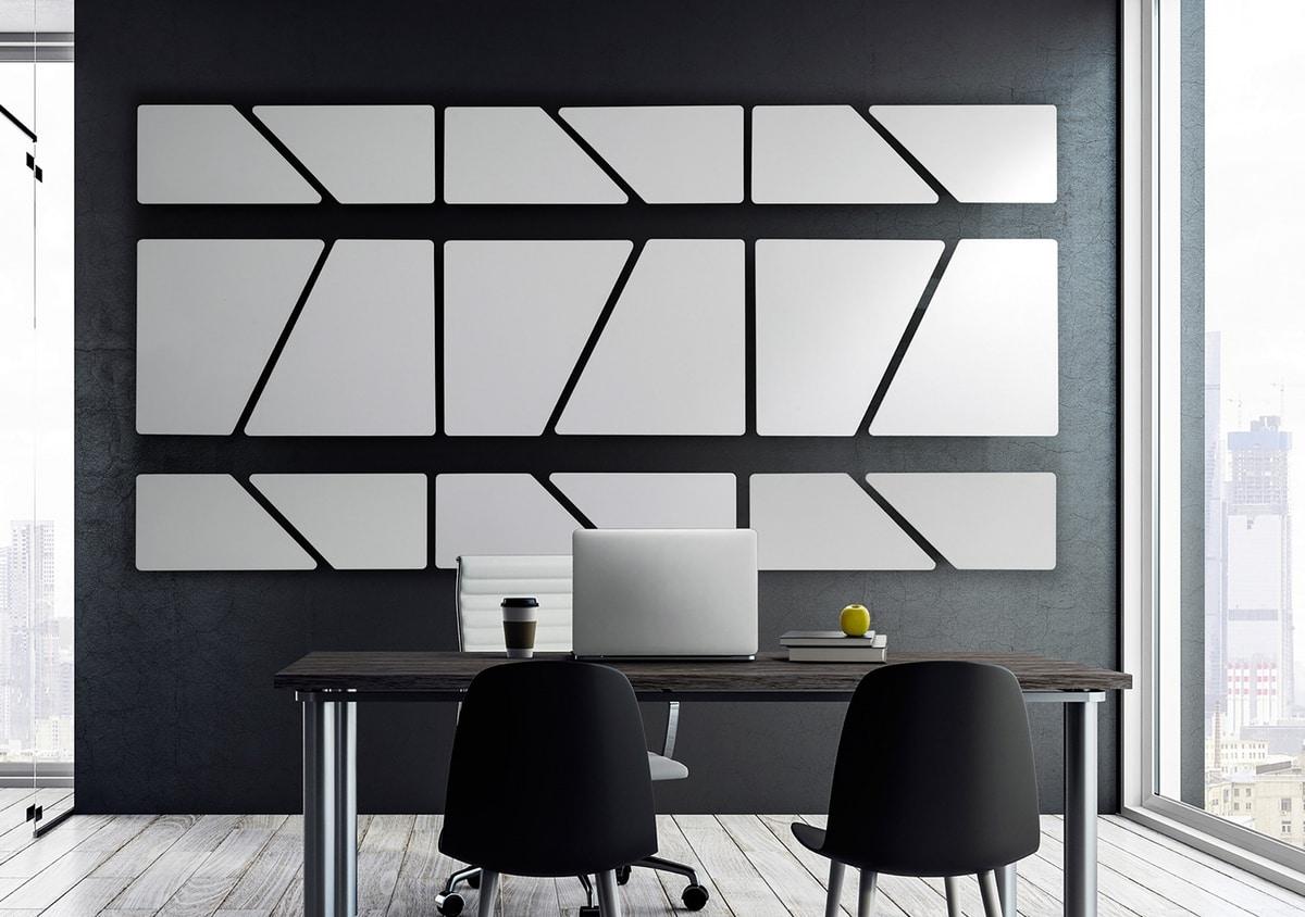 Flat, Pannelli fonoassorbenti componibili, con superficie perfettamente planare