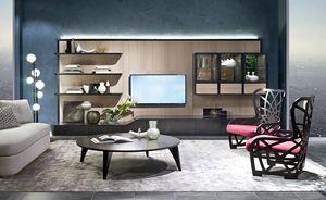 LB48 Desyo libreria, Parete modulare per soggiorno
