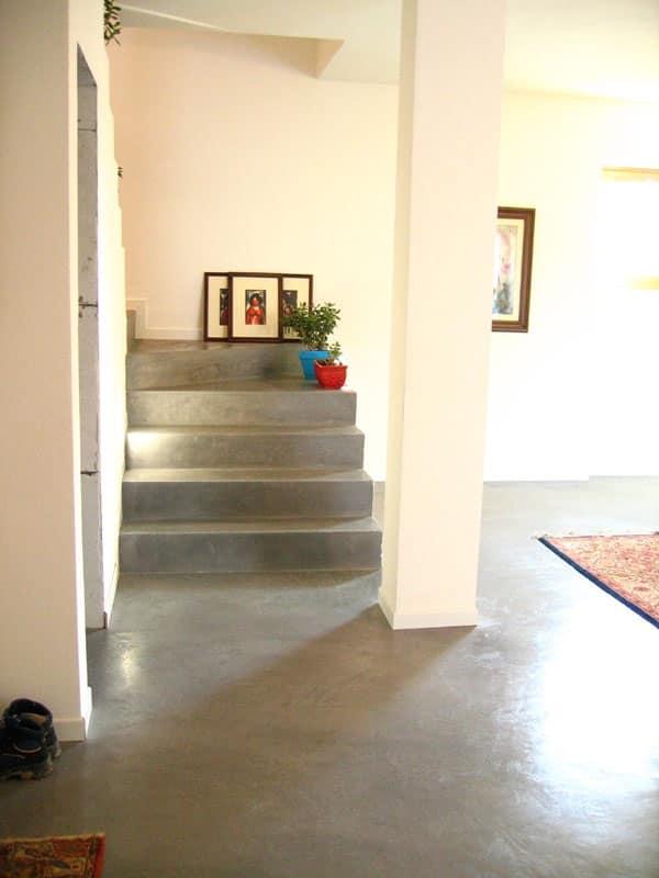 Pavimenti in resina spatolati cementizi 2, Pavimento spatolato in resina, per uso residenziale