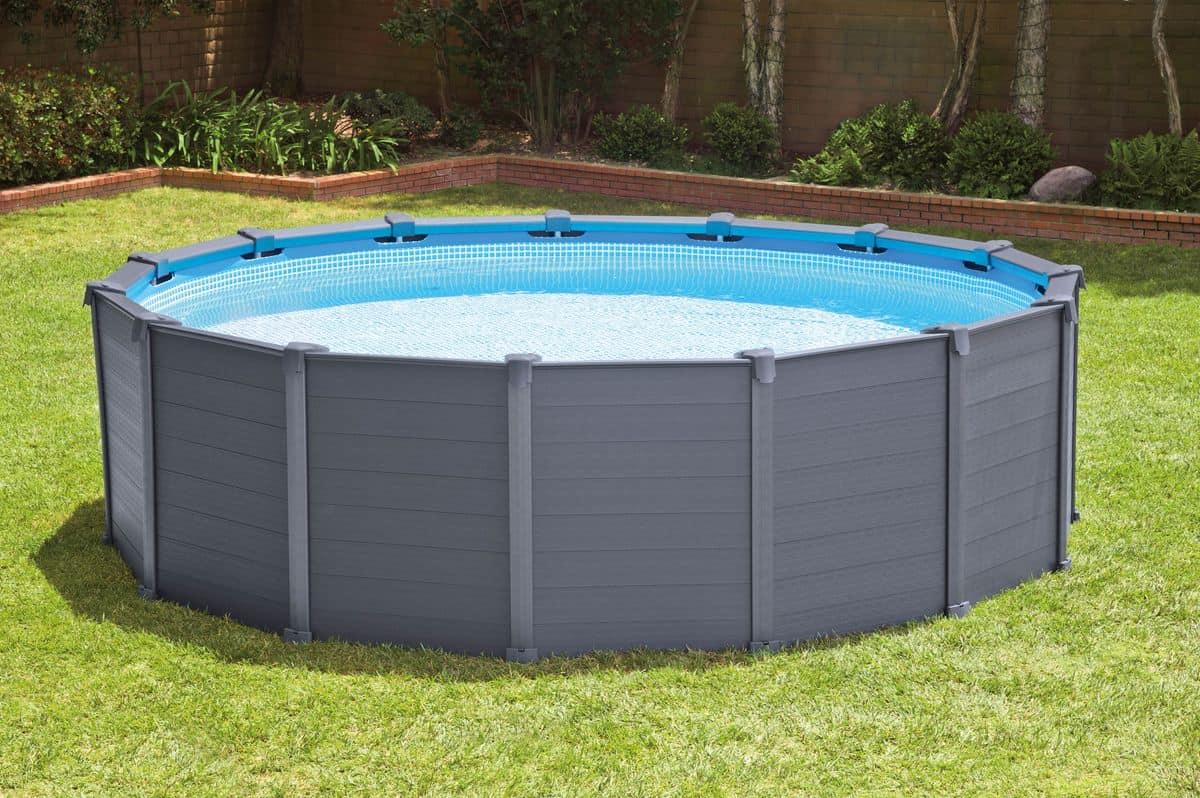 Piscine Da Esterno Rivestite In Legno piscina fuori terra con pannelli in resina dura | idfdesign