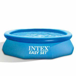Intex 28122 Easy Set piscina fuori terra gonfiabile rotonda 305x76 - 28122, Piscina gonfiabile con filtro acqua