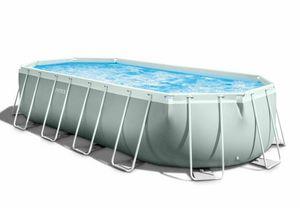 Piscina fuori terra Intex 26798 ovale 610x305x122cm Prism Frame - 26798, Ampia piscina smontabile