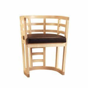 Cartesia 3881/A, Poltroncina in legno di acero curvato
