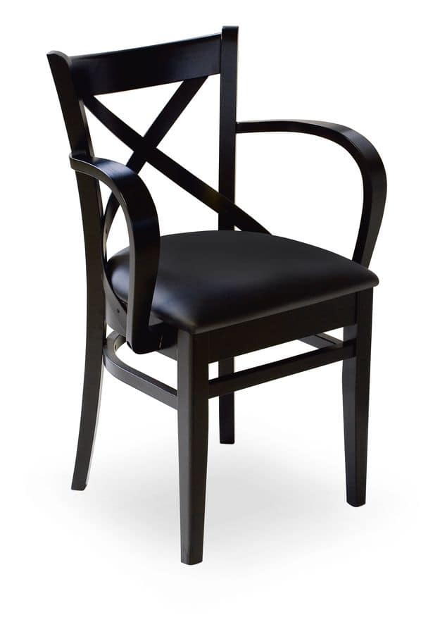 Wolf/P, Poltroncina in legno con sedile imbottito