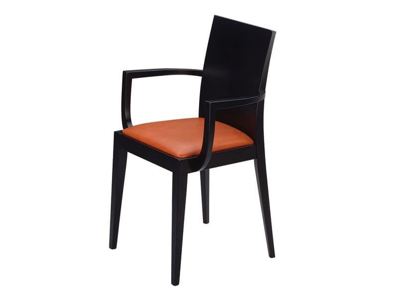 Masha/P, Poltroncina con seduta imbottita, per bar e ristoranti