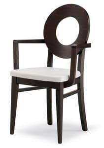 PL 47 / UHP, Sedia con schienale in legno, seduta imbottita, in vari colori