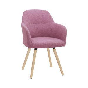 5331, Poltroncina moderna con gambe in legno