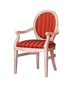 1080, Poltroncina classica in faggio, con schienale ovale