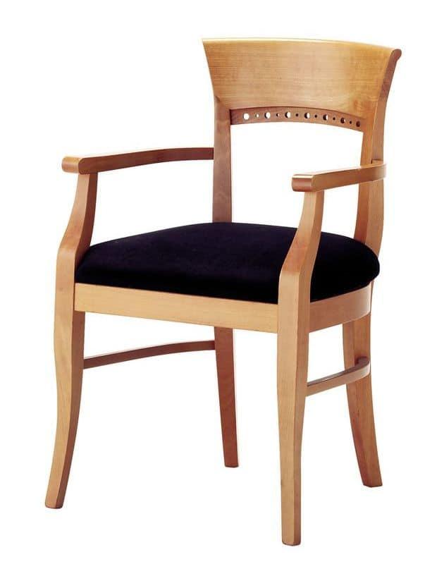 ... Sedie Classiche ed in stile in stile seduta imbottita con braccioli