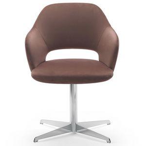 Vivian armchair, Poltrona con base girevole