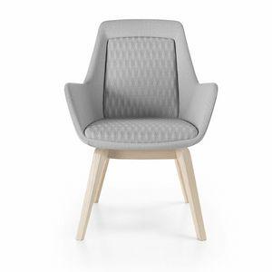 Roxy chair, Poltroncina con base in legno