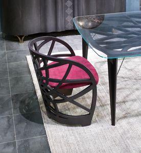 SE54 Galileo sedia, Poltroncina con struttura in rovere