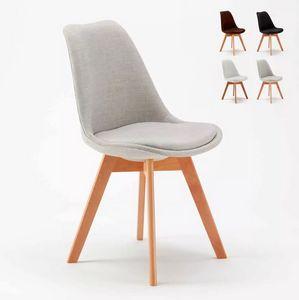 Sedie Design Scandinavo Metallo Effetto Legno Dexer per Bar e Cucina, Sedia con gambe in metallo effetto legno