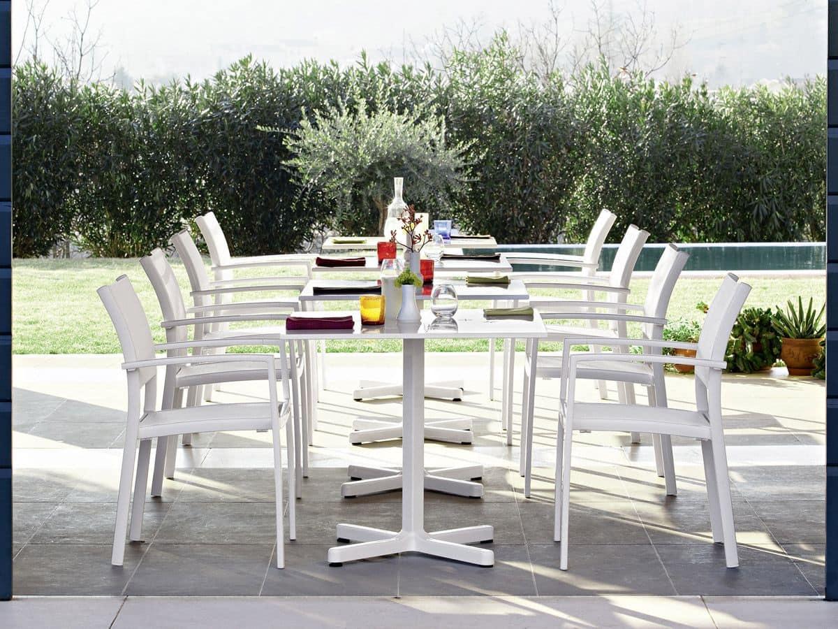 Sedie A Dondolo Per Terrazzo sedia con braccioli, in alluminio, per giardini e terrazzi