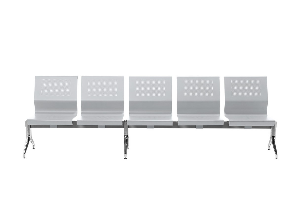 Korus Alu, Seduta su barra in acciaio, gambe in alluminio