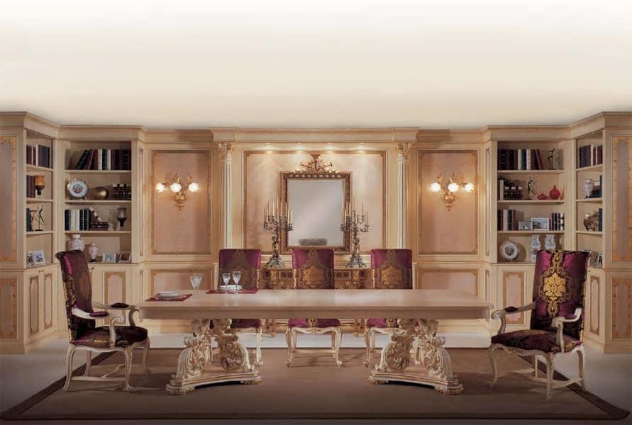 Sedia capotavola in stile classico di lusso, per sala da ...