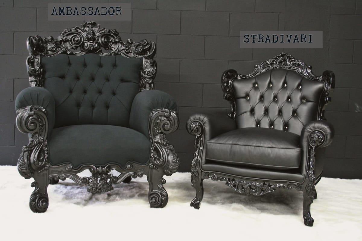 Ambassador, Poltrona di lusso, in stile Barocco Contemporaneo