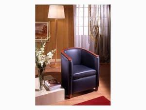 Bibi, Poltrona in legno di pioppo, per sala attesa e salotto
